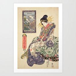 Geisha women Art Print