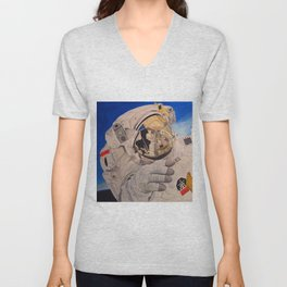 Astronaut in space, man. Unisex V-Neck