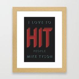 Hit People Framed Art Print