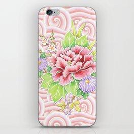 Pink Kimono Bouquet iPhone Skin