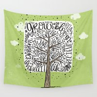 tree of life Wall Tapestries featuring Tree of Life by Matthew Taylor Wilson
