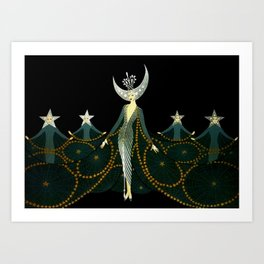"Art Deco Design ""Queen of the Night"" Art Print"