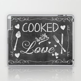 Cooked with Love Retro Chalkboard Sign Laptop & iPad Skin