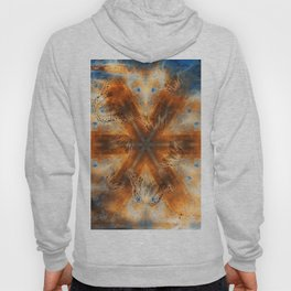Surreal butterflies on corrugated iron mandala Hoody