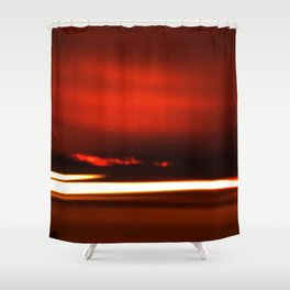 Overreal  - Now is the Time.  Album Cover Shower Curtain