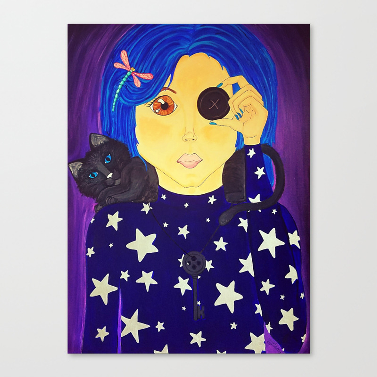 Be Brave Coraline Fan Art Canvas Print By Crypticcharm Society6