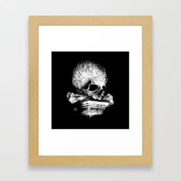 Skull on Pedestal Framed Art Print