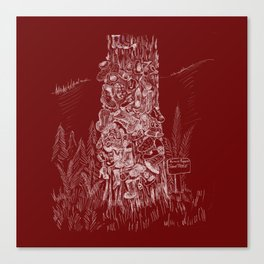 Shoetree in Deep Red Canvas Print
