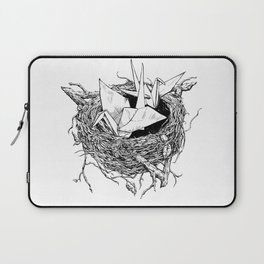 birds made of paper in a nest Laptop Sleeve