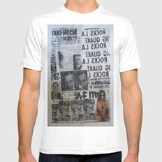 MORE NEWS MEDIUM Mens Fitted Tee White