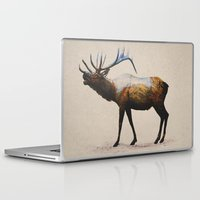 rocky Laptop & iPad Skins featuring The Rocky Mountain Elk by Davies Babies