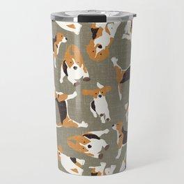 beagle scatter stone Travel Mug