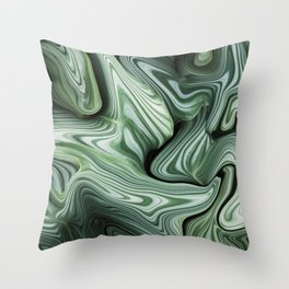 Sinking in Green Throw Pillow