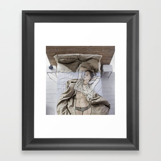 A day in bed Framed Art Print