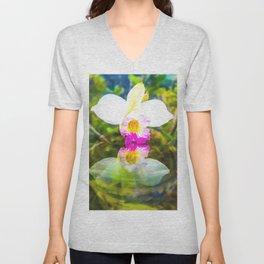Orchid reflection Unisex V-Neck