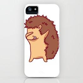 Dabbing Hedgehog Design Cute Dab Hedgehogs Kids Adult Gift Print iPhone Case