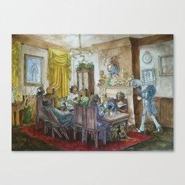 Steampunk Family Dinner Canvas Print