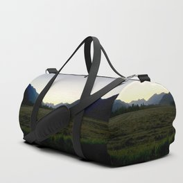 Tranquil mountains dusk Duffle Bag