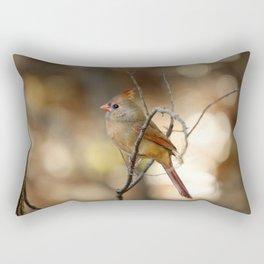 Beautiful Female Cardinal Rectangular Pillow