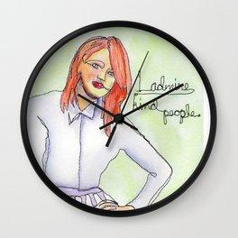 """I Admire Kind People"" Wall Clock"
