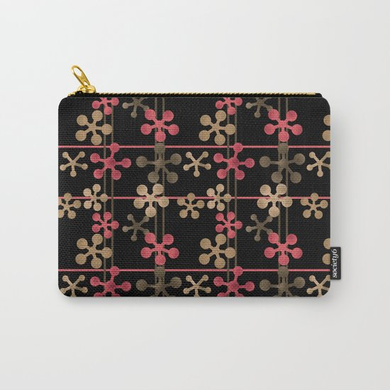 Abstract pattern in black red and brown tones . Carry-All Pouch