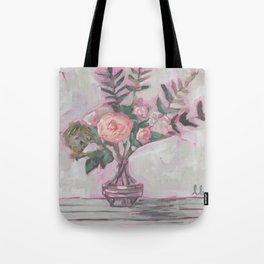 Pops of Hot Pink Florals Tote Bag
