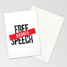 Free Speech Banned Stationery Cards