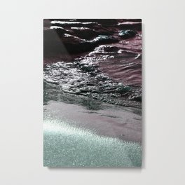 Dark Saturated Sea Coast Metal Print