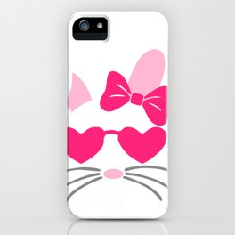 Girl Easter Bunny Wearing Glasses iPhone Case