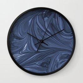 Original Marble Texture - Dark Night Wall Clock