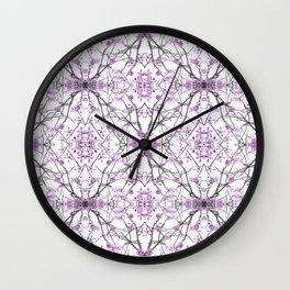 Geometric Pattern Nature Print  Wall Clock