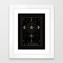 L'Etoile or The Star Tarot Gold Framed Art Print