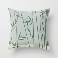 bamboo Throw Pillows featuring Bamboo by Rceeh