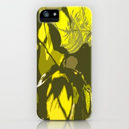 Autumn leaves bathing in sunlight #decor #society6 iPhone Case