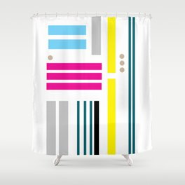 Distance Of The Modern Hearts Shower Curtain