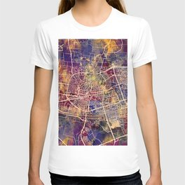 Leeuwarden Netherlands City Map T-shirt