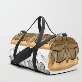 Art Nouveau Glass Flowers (small) Duffle Bag