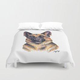 German Shepard - Dog Portrait Duvet Cover