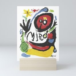 Joan Miró Tres Livres 1957 Artwork for Prints Posters Tshirts Bags Women Men Mini Art Print