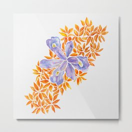 Iris and Butterfly Weeds Metal Print
