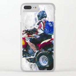 Quad racing Clear iPhone Case