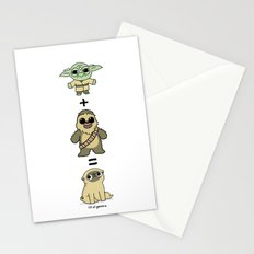 The origin of pugs Stationery Cards