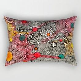 Full Page Doodling Pattern  Rectangular Pillow