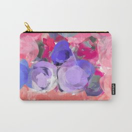 Flower Power in Pink, Purple, Peach and White Carry-All Pouch
