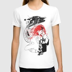 Sketching Womens Fitted Tee White MEDIUM