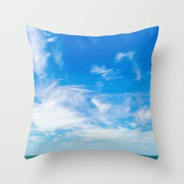 The Great Blue Sky Throw Pillow