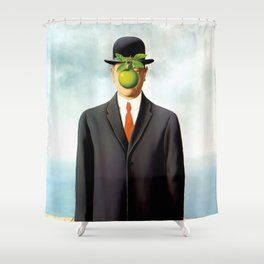 Rene Magritte The Son of Man, 1964 Artwork, Tshirts, Posters, Prints, Bags, Men, Women, Youth Shower Curtain