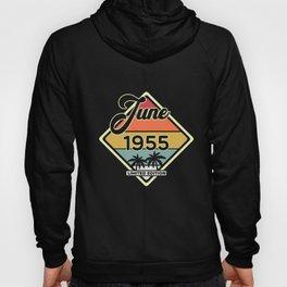 Vintage June 65 Year 1955 65th Birthday Gift Hoody
