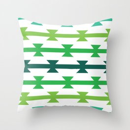 Triangle Stripes Throw Pillow
