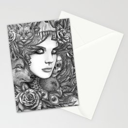 Wolf two Stationery Cards